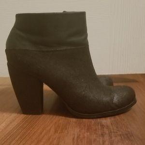 Black round toe booties